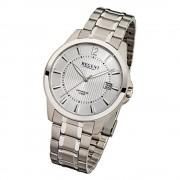Regent Herren-Armbanduhr F-554 Quarz-Uhr Titan-Armband silber URF554