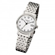 Regent Damen-Armbanduhr Mineralglas Quarz Edelstahl silber URF598