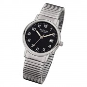 Regent Herren-Armbanduhr F-704 Quarz-Uhr Stahl-Armband silber URF704