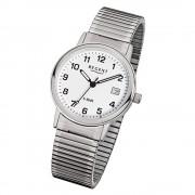 Regent Herren-Armbanduhr F-705 Quarz-Uhr Stahl-Armband silber URF705