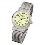 Regent Herren-Armbanduhr F-706 Quarz-Uhr Stahl-Armband silber URF706