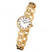 Regent Damen-Armbanduhr F-803 Quarz-Uhr Mini Stahl-Armband gold URF803