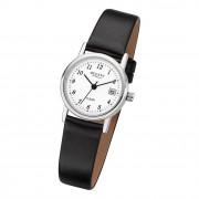 Regent Damen-Armbanduhr - Lederarmband - Quarz Leder schwarz URF827