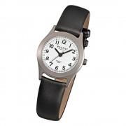 Regent Damen-Armbanduhr - Titan Damenuhren - Quarz Leder schwarz URF871