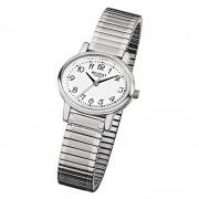Regent Damen-Armbanduhr F-891 Quarz-Uhr Stahl-Armband silber URF891