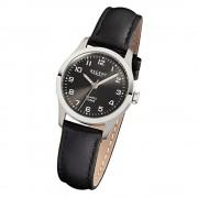 Regent Damen-Armbanduhr F-900 Titan-Uhr Leder-Armband schwarz URF900