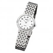 Regent Damen-Armbanduhr F-909 Quarz-Uhr Stahl-Armband silber URF909
