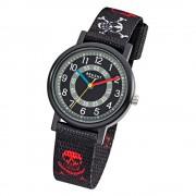 Regent Kinder Piratenuhr Aluminium Textil schwarz rot weiß Jungen Uhr URF950