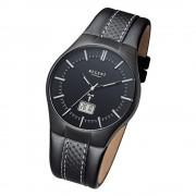 Regent Herren-Armbanduhr 32-FR-216 Funkuhr Leder-Armband schwarz URFR216