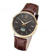 Regent Herren Armbanduhr Analog-Digital FR-244 Funk-Uhr Leder braun URFR244