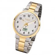 Regent Armbanduhr Analog Digital FR-245 Funk-Uhr Metall silber gold URFR245