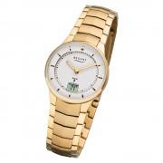 Regent Damen Armbanduhr Analog-Digital FR-263 Funk-Uhr Metall gold URFR263