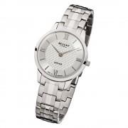 Regent Damen Armbanduhr Analog GM-1413 Quarz-Uhr Metall silber URGM1413