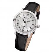 Regent Damen Armbanduhr Analog GM-1440 Quarz-Uhr Leder schwarz URGM1440