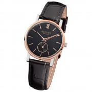 Regent Damen-Armbanduhr Quarz-Uhr Leder-Armband schwarz Uhr URGM1454