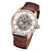 Regent Herren Armbanduhr Analog GM-1462 Automatik-Uhr Leder braun URGM1462