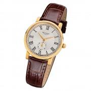 Regent Damen Armbanduhr Analog GM-1607 Quarz-Uhr Leder braun URGM1607