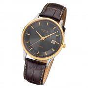 Regent Herren Armbanduhr Analog GM-1608 Quarz-Uhr Leder braun URGM1608