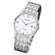 Regent Herren Armbanduhr Analog GM-1614 Quarz-Uhr Metall silber URGM1614