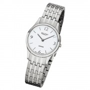 Regent Damen Armbanduhr Analog GM-1615 Quarz-Uhr Metall silber URGM1615