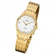 Regent Damen Armbanduhr Analog GM-1619 Quarz-Uhr Metall gold URGM1619