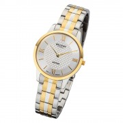 Regent Damen Armbanduhr Analog GM-1624 Quarz-Uhr Metall gold silber URGM1624