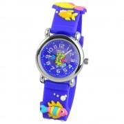 Tee-Wee Kinderuhr blau Meereswelt 3D Kautschukband Kinder Uhren UW835B