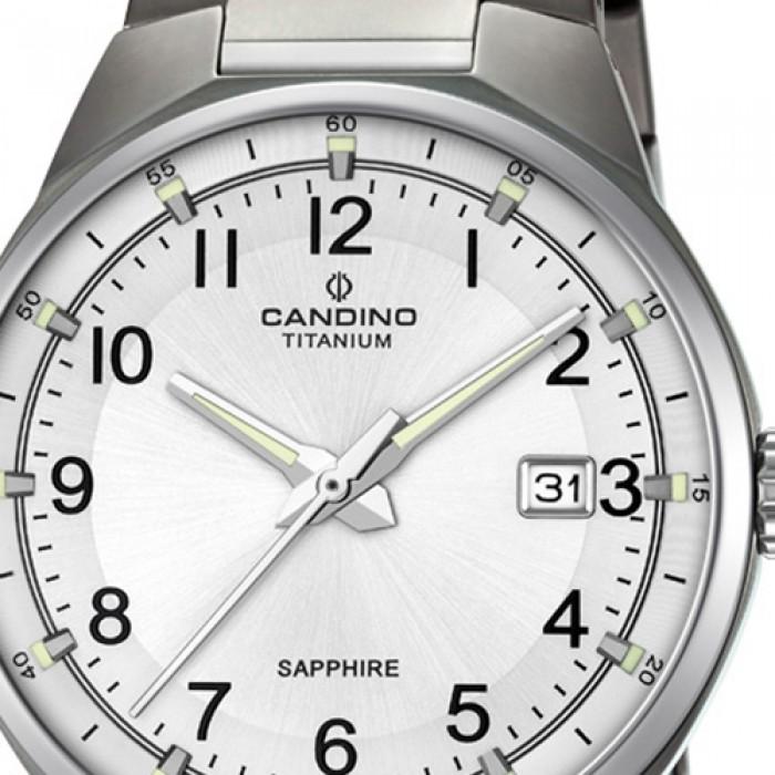 Candino Herren Armbanduhr Titan silbergrau C46051 Quarzuhr Titanium UC46051