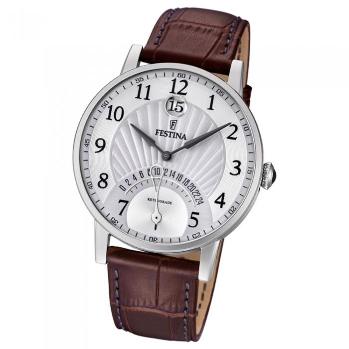 Festina Leder Braun Quarz Armbanduhr F169841 Uf169841 Dualtime Herren 0ONP8nwkX