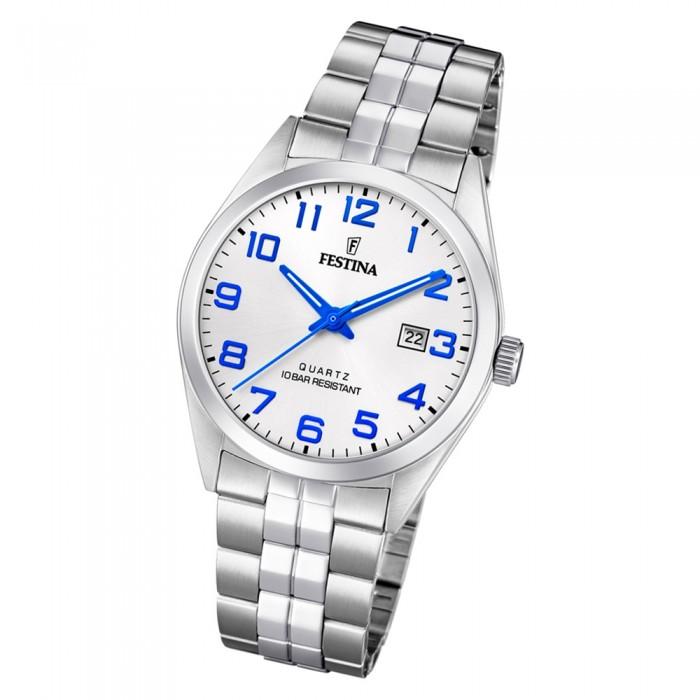 Uf204372 Herren Quarz Klassik Festina Edelstahl F204372 Silber Armbanduhr e2DI9YWEH