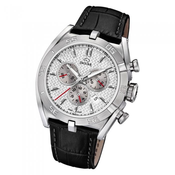 J8571 Uj8571 Armbanduhr Saphir Executive Schwarz Jaguar Herren Leder 80NXOPknw