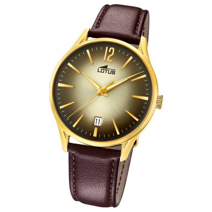 Quarz Leder Braun Ul184032 Armbanduhr 184032 Lotus Herren Revival oeQrdxCBW
