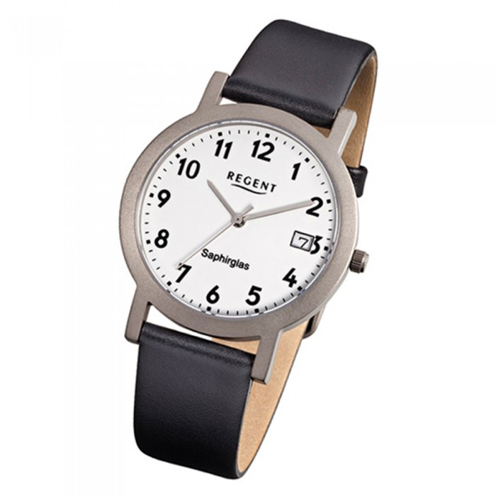 Titan Armband Herren Uhr Schwarz Urf690 Leder Regent Armbanduhr F 690 0wO8PkXNn